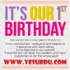 "It,s Our 1st Birthday ""Yesurdu"""
