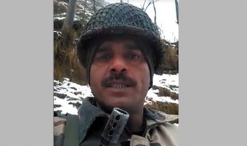 Indian soldier who protested bad food gets plumber's job