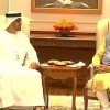Abu Dhabi crown prince visits Indian presidential palace