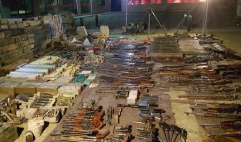 TTP hideout destroyed, huge cache of weapons recovered from FATA: ISPR