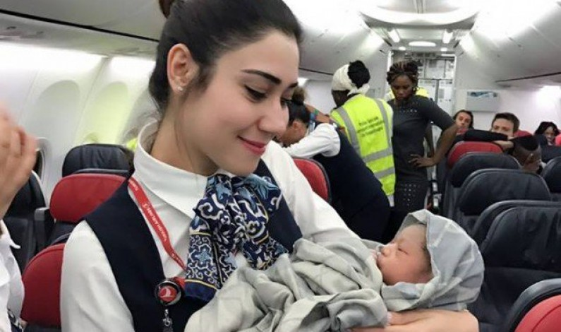 Baby girl born mid-air on Turkish Airlines flight