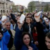 Major protest in Hungary over Soros university law