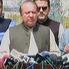 PM Nawaz addresses media as he leaves judicial academy