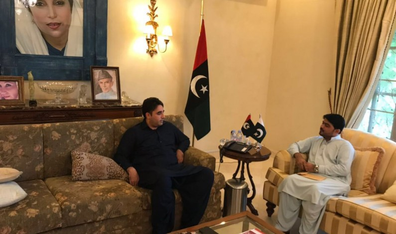 Sher Mohammad Lakho Vice Chairman of District Council, Tando Mohammad Khan called on Chairman PPP