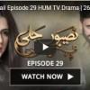 Naseebon Jali Episode 29 HUM TV Drama | 26 October 2017