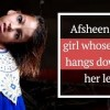 Afsheen, the girl whose head hangs down to her left