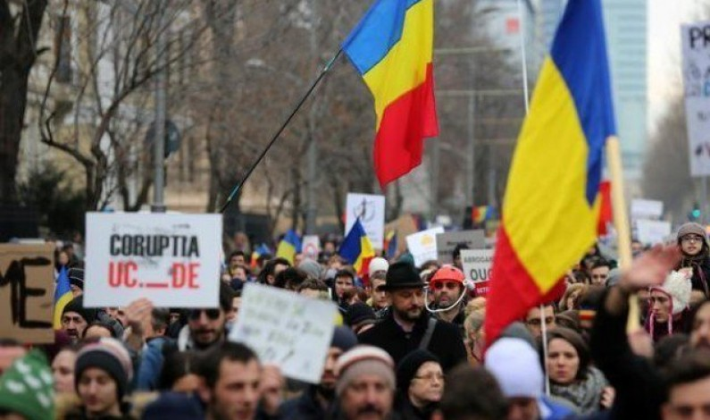 Romanians stage fresh anti-corruption protests.