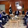 A delegation of Islamabad based Ambassadors meets Pakistani Interior Minister Ahsan Iqbal