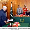President Mamnoon Hussain administered oath of office to MNA Chaudhry Mahmood Bashir Virk as Federal Minister
