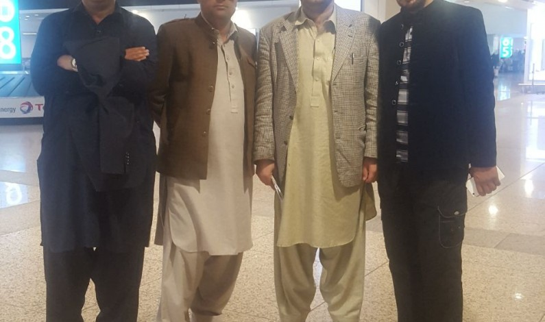 Four members KP Sports Editors and FATA Spirits Writers delegation arrived in Dubai today