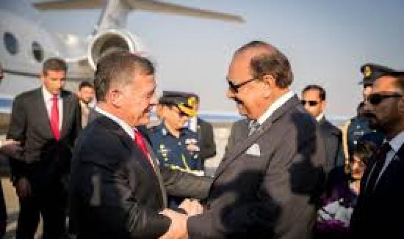 King Abdullah II ibn Al Hussein of the Hashemite Kingdom of Jordan  met the President Mr. Mamnoon Hussain and the Prime Minister Mr. Shahid Khaqan Abbasi