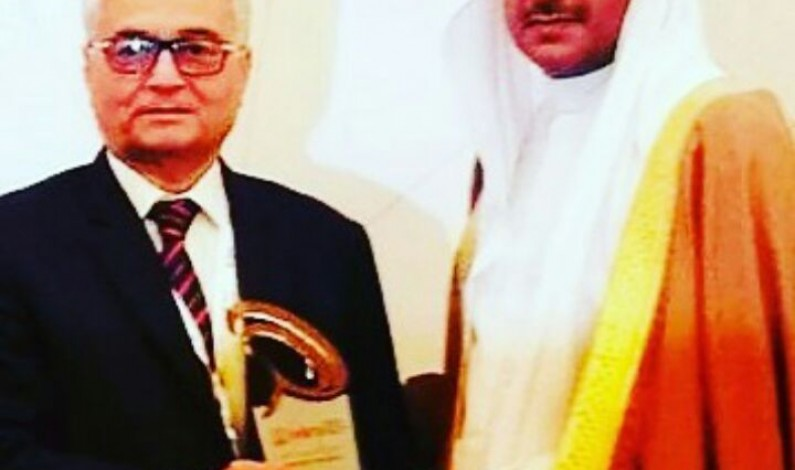 Honour for Pakistani media. Pakistan's seasoned journalist Mr. Khalid Athar honoured with Bahrain most prestigious award
