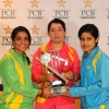 The Trophy unveiling ceremony for PCB Triangular One Day Women's Cricket Tournament