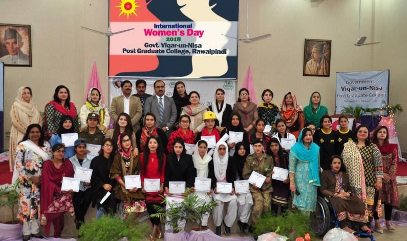 International women's day (IWD) celebrated at Govt. Viqar-un-nisa Post Graduate College, Rawalpindi