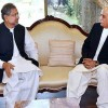 Abbasi, Shah meet again to discuss name of caretaker PM