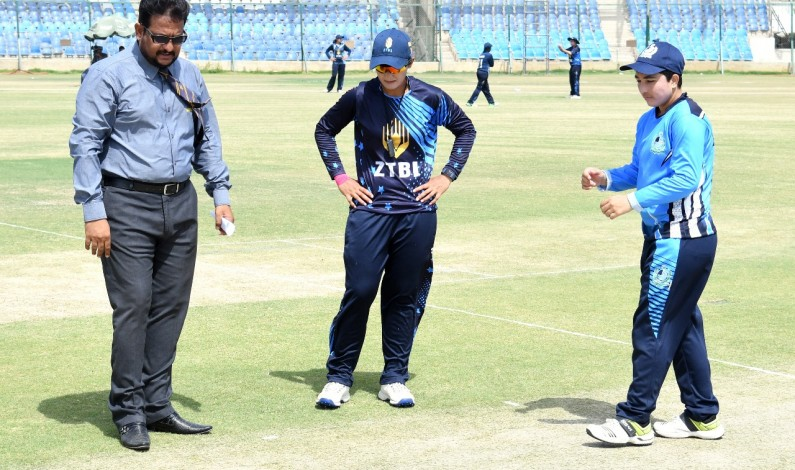 ZTBL won the toss and elected to bat first in 12th match of departmental T20 Women's Cricket Championship
