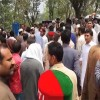 Ticket issue: PTI workers protest outside Imran Khan's residence