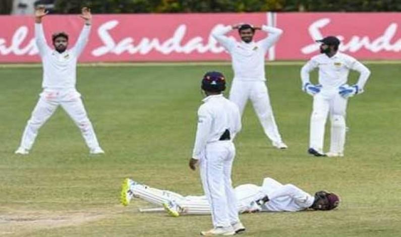 Chandimal sweats as Sri Lanka and West Indies draw 2nd Test