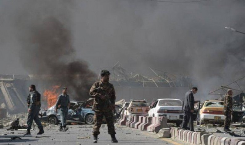 Two injured in suicide blast outside Afghanistan's election commission HQ in Kabul