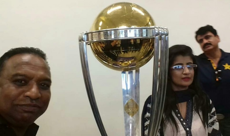 The Good,The Bad and The Googly; Pakistani journalist Asghar Ali Mubarak revisits his episode of 1996 World Cup at 2019 ICC World Cup trophy unveiled ceremony Rawalpindi