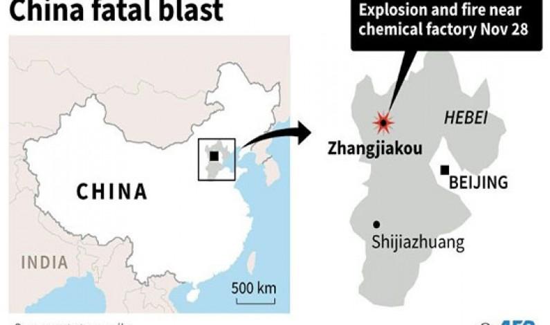 Blast kills 22 near north China chemical plant: official