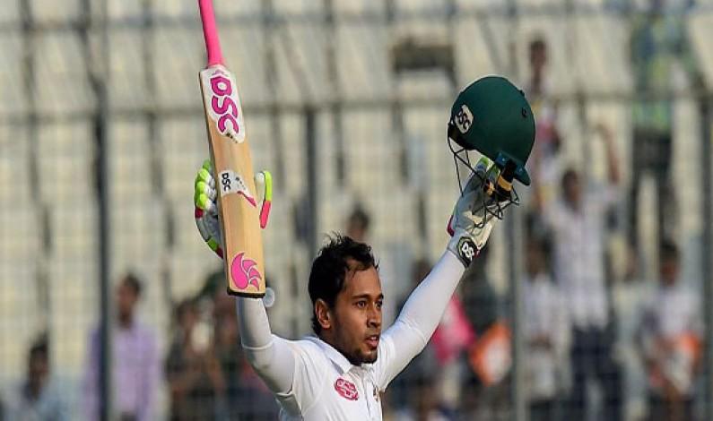 Mushfiqur's record innings puts Bangladesh on top