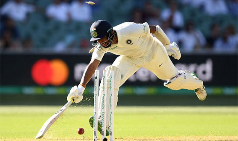 India all out for 250 in first Australia Test