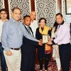 """President Diplomatic Correspondents Forum of Pakistan along with senior journalists are presenting """"Dipolmatic Media Excellence Award  2019"""" to H.E.Ms. Tehmina Janjua on her extraordinary services as foreign secretary Government Islamic Republic of Pakistan for 35 years"""