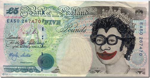 Clown Five Pound Note