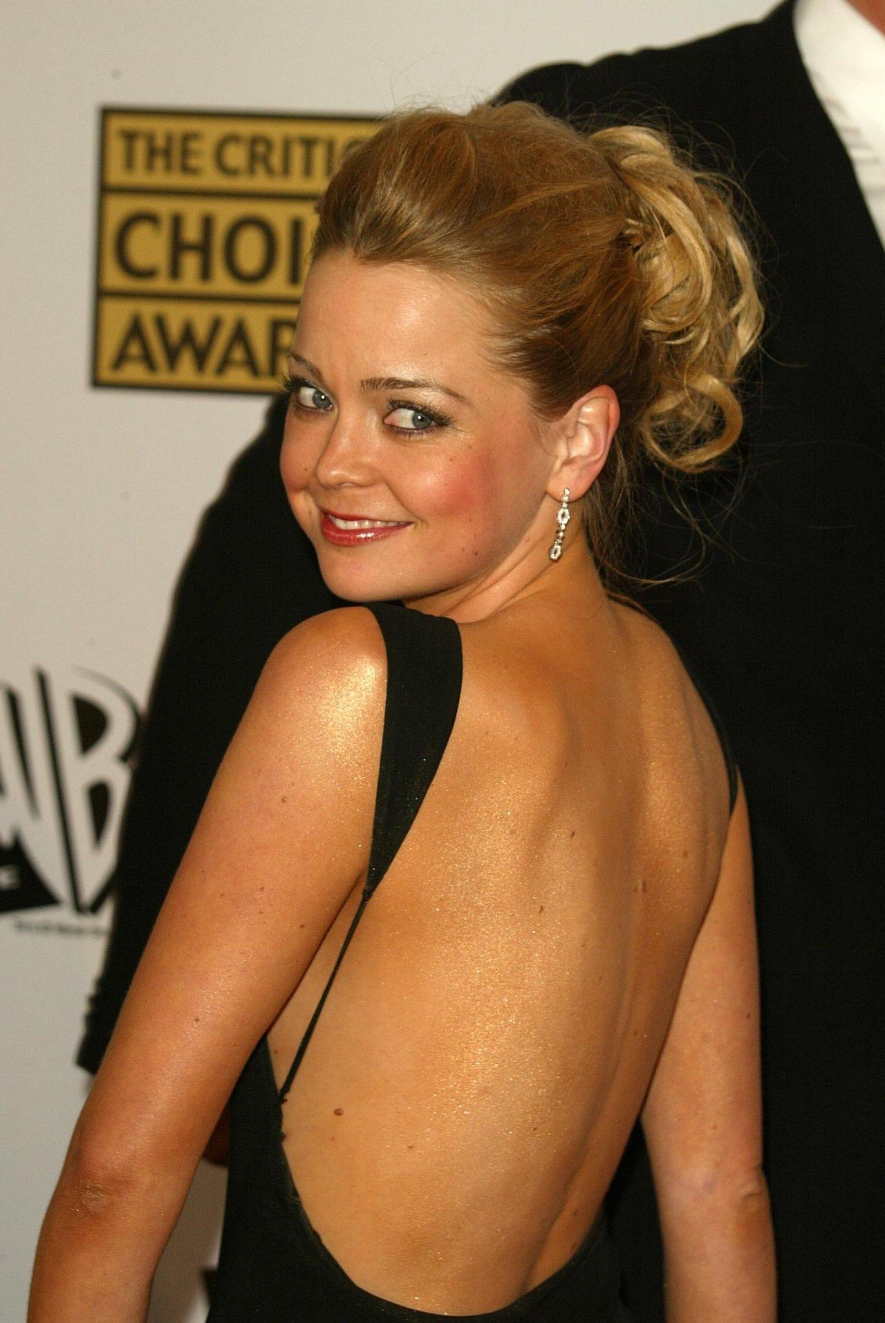 Marisa Coughlan in Backless Dress