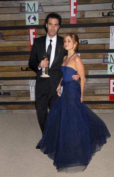 Sacha Baron Cohen and Isla Fischer