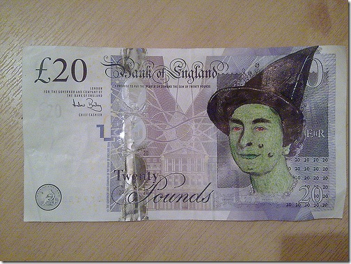 Wicked Queen 20 Pound Note