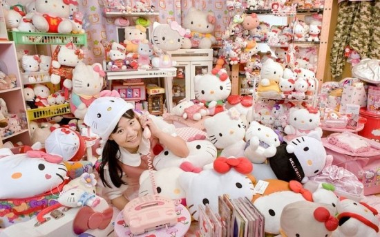 Largest collection of Hello Kitty memorabilia