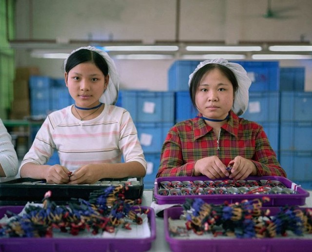Chinese Factory Workers And The Toys They Make