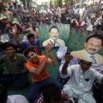 Supporters of Pakistan's Muttahida Quami Movement