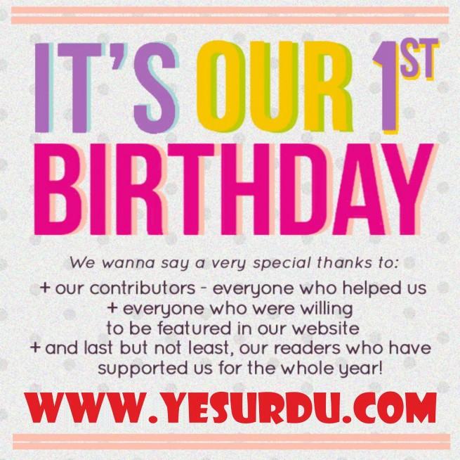 Yes Urdu 1st Birthday