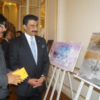 Fahim Hamid Ali's paintings at exhibition in Paris