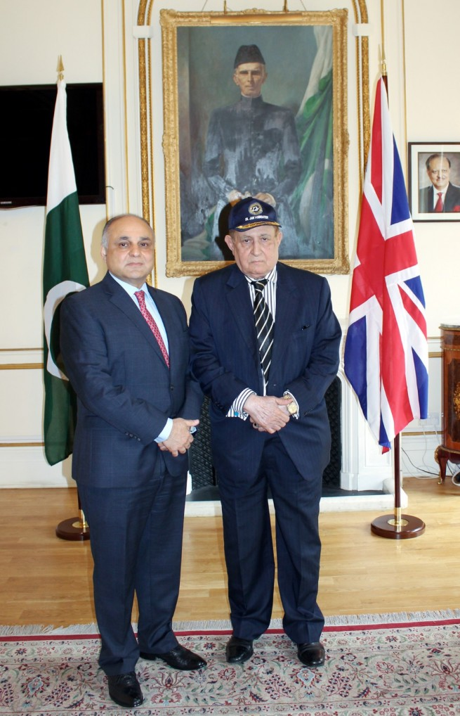 Syed Ibne Abbas, Pakistan High Commissioner to the UK with Dil Jan Khan, Chairman Dil Jan Foundation at Pakistan High Commission London on 21-4-2016