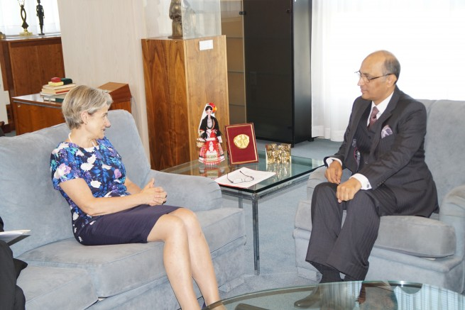 Pakistan Ambassador Mr. Moin ul Haque With Director General UNESCO