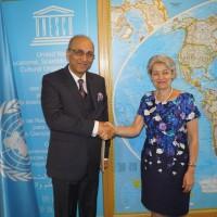 Pakistan Ambassador Mr. Moin ul Haque With Director General UNESCO
