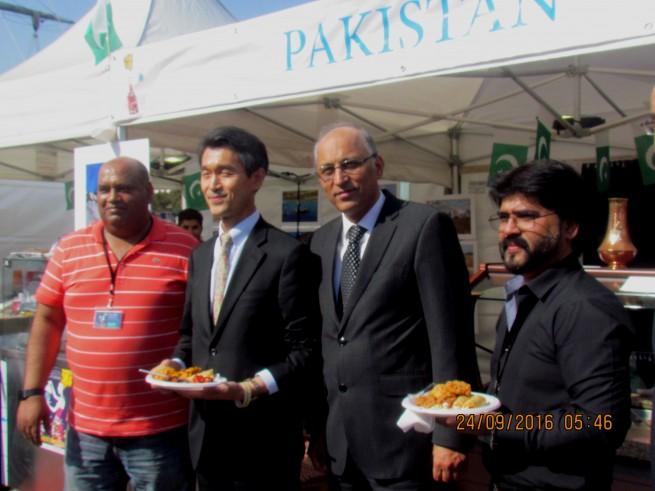 People thronged Pakistani food stalls at Paris France