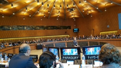The Ambassador of Pakistan in France and the Permanent Delegate of Pakistan to UNESCO is addressing the 200th Session of the UNESCO Executive, in Paris, France, 10.10.2016