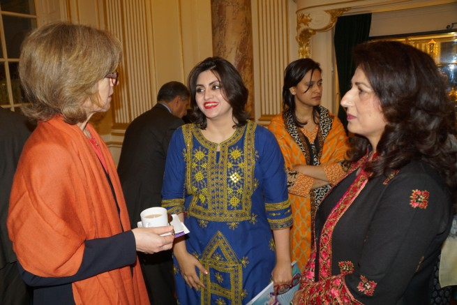 Embassy of Pakistan in Paris, France hosted a reception to honor Ms. Gulalai Ismail recipient of Chirac Prize for Conflict Prevention in Paris Today 25.11.2016