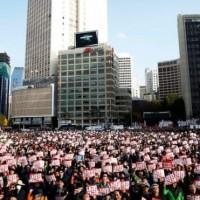 Seoul protest targets South Korean President Park Gun-hye