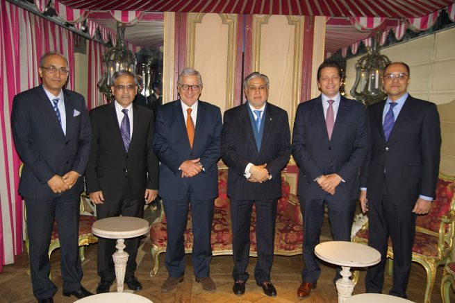 Senator Mohammad Ishaq Dar Federal Minister for Finance and Economic Affairs of Pakistan is meeting with Mr. Bernard Cambier, Head of Middle East Division of Renault the French Car manufacturing company, in Paris