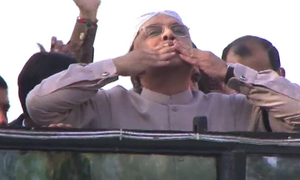 Touchdown: Zardari lands in Pakistan after 18 months in self-imposed 'exile'