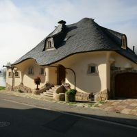 Fabulous house built by doctors in Zell, near the river Mosel, Germany.