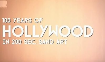 '100 Years of Hollywood in 200Sec. Sand Art' by RahulArya