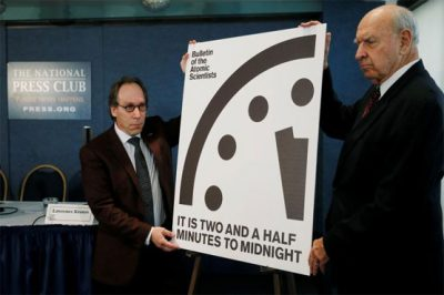 Nuclear 'Doomsday Clock' ticks closest to midnight in 64 years