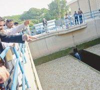 Karachi supplied 200MGD unfiltered, unchlorinated water
